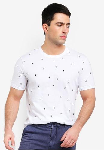 United Colors of Benetton white Printed T-shirt 6A94EAA4C5E7B1GS_1