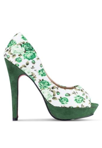 Alfio Raldo green Peep Toe Heels AL803SH0R9PCMY_1