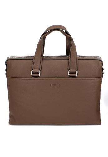 Enrico Coveri brown A19-01 Briefcases 095B4AC615AD93GS_1
