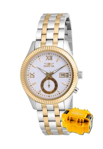 INVICTA gold Invicta Specialty Men 40mm Case Steel, Stainless Steel Strap Dial Quartz Watch 18101 with Impact Case EE84BAC3251190GS_1