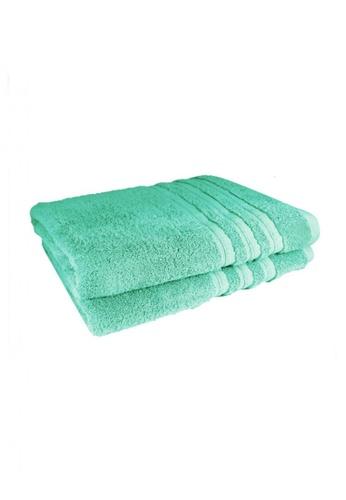 Primeo green Premium Aqua Bath Towel 520gsm Soft High Absorbent Set of 2 341A6HL6372EE0GS_1