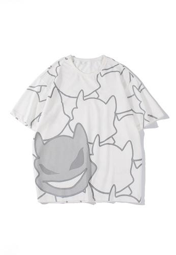 Twenty Eight Shoes white VANSA Unisex Full Print Little Devil Short-sleeved T-shirt VCU-T1541 0D3CEAA4C27A52GS_1