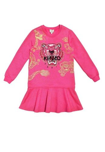 KENZO KIDS pink KENZO TIGER GIRLS DRESS 6AE63KA948225AGS_1