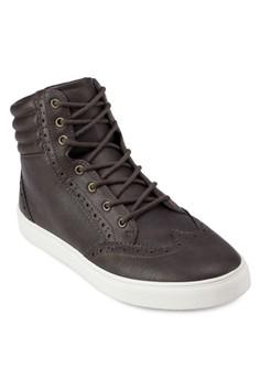 Faux Leather High Cut Sneaker