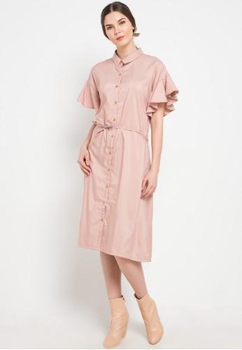 Noche beige Catalina Shirt Dress A598BAAD65BB8BGS_1
