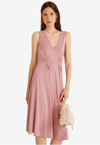 Mango pink Modal Dress 33E40AAC389F7FGS_1