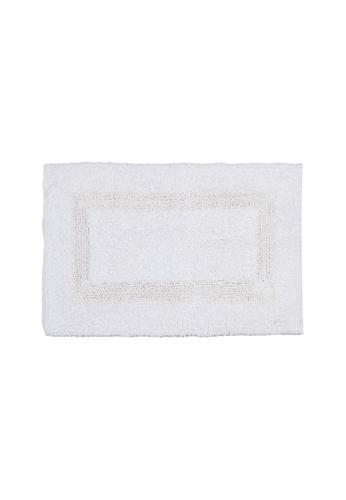 Charles Millen white SET OF 2 Charles Millen Suite Boundary Tufted Bath Rug ( 40cm x 60cm )360g. 59200HL1BF4C4DGS_1
