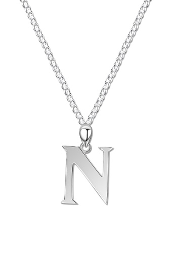 SC Tom Silver silver Letter Pendant with Chain SC872AC0J8D2PH_1
