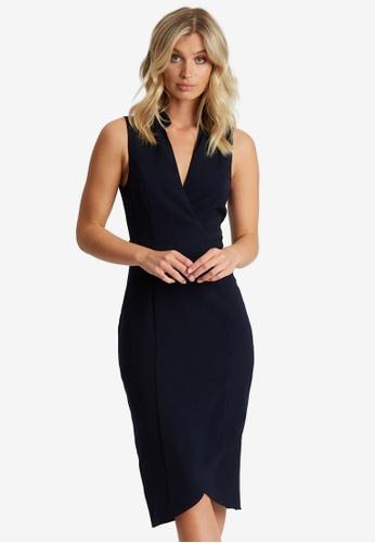 Willa navy Maxine Midi Dress 3DDBCAAF3CFB98GS_1