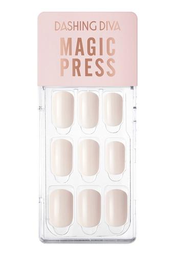 Dashing Diva white Dashing Diva 1 SEC. MAGIC PRESS Manicure Neutral Ivory / Press on Nails /Nail Tips 399B2BE8E496D6GS_1