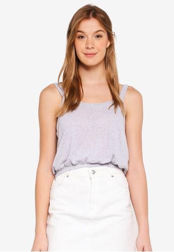 Cotton On grey Lulu Sleeveless Waisted Top B6CBBAA1804647GS_1