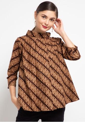 Batik First brown Blouse MJ Doll BKK TCH+1 Masker C78EFAA53DB495GS_1