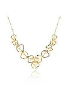 N926-A Korea Romantic Opal Hollow Flower shape Necklace Party Jewelry