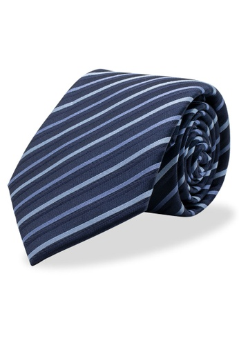Arden Teal blue Preto Silk Tie 813ABAC30F4D9FGS_1