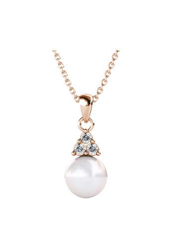 Her Jewellery yellow Elegant Pearl Pendant RG - Kalung Crystal Swarovski by Her Jewellery 8CE0FACDCA1445GS_1
