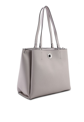 ed409fba583c8 Buy Dorothy Perkins Grey Compartment Tote Bag Online