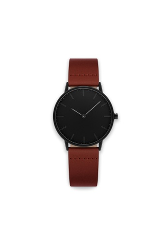 PLAIN SUPPLIES black and brown Blackout 36 – Brown Leather 0E7C0ACA510022GS_1