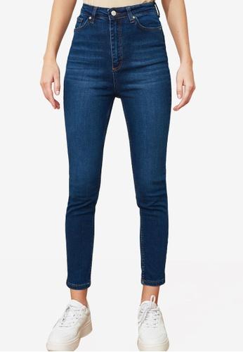 Trendyol navy High Waist Skinny Jeans ABA28AA4FD75DDGS_1