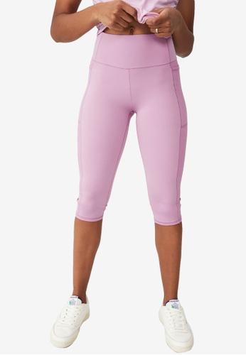 Cotton On Body purple Rib Pocket Capris 764AAAA62B498EGS_1