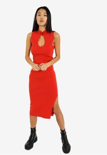 PIMKIE red Ribbon Detail Bodycon Dress BE1DBAACF34287GS_1