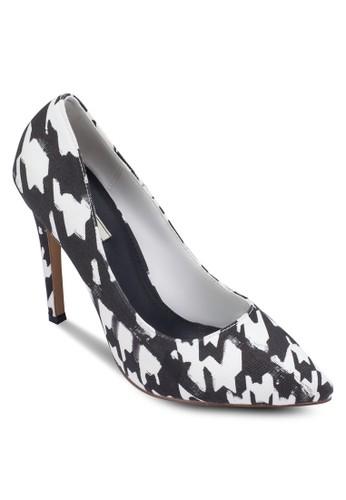 格紋尖頭高跟鞋, 女鞋,esprit outlet 台灣 鞋