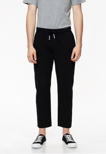 Life8 black Straight Fit Cropped Trouser-02431-Black LI283AA0GNPKSG_1