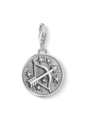 "THOMAS SABO silver Charm pendant ""zodiac sign Sagittarius"" 7F3D6AC504FB77GS_1"