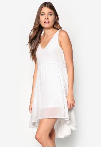 不對稱傘zalora 手錶 評價擺蕾絲洋裝, 服飾, 洋裝