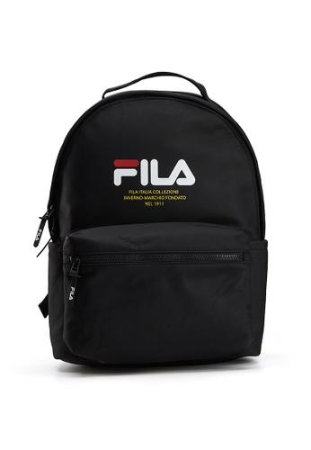 FILA black FILA Logo Backpack 006DCAC6B191DDGS_1