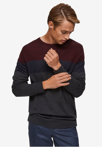 Selected Homme red Marvin Merino Crew Neck Jumper DEFEDAA83779E3GS_1