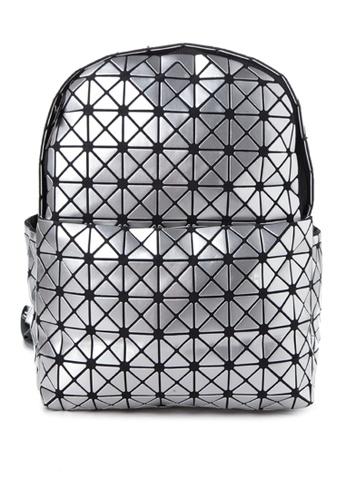Chase Fashion grey Geometric Shape Backpack CH547AC52ELJPH_1
