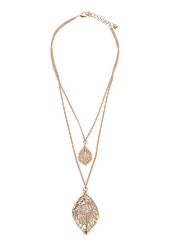 Double Leaf Layered esprit hk storeNecklace, 飾品配件, 項鍊
