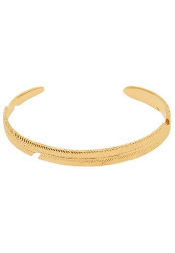 Pastiche gold Palm Shadow Cuff 98D77AC40F9F88GS_1