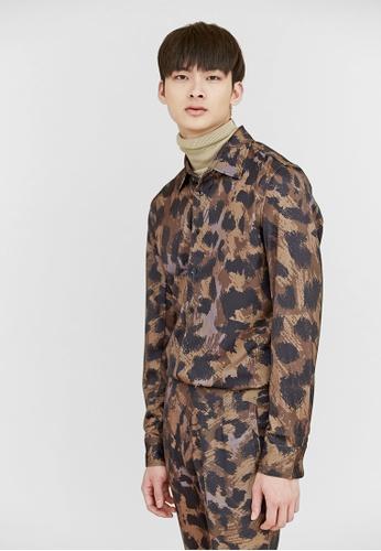 Life8 brown Life8 x Daniel Wong。Leopard Print Shirt-03654-Brown LI286AA57BESMY_1