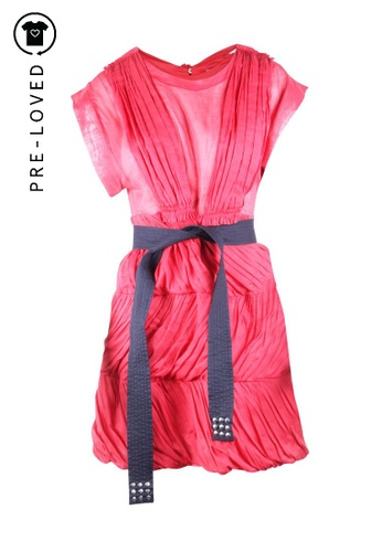 Sonia By Sonia Rykiel red Pre-Loved sonia by sonia rykiel Red Dress With Black Belt 5C692AAB2192C4GS_1