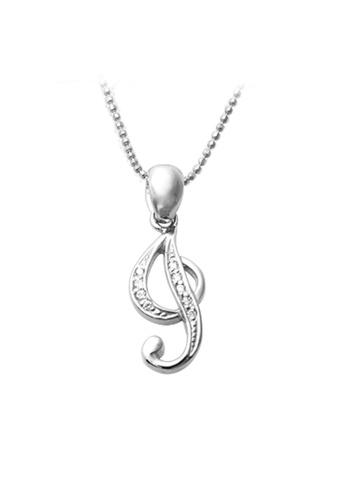 "The LoveMark silver Capital ""I"" Necklace TH516AC67XRGPH_1"