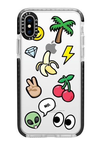 new products a3d33 77ddb Casetify Impact Protective iPhone XS/ iPhone X Case with Camera Ring -  Emoticons