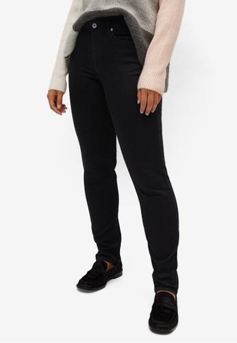 Violeta by MANGO black Plus Size Slim-Fit Susan Jeans 5B8D0AA71FA165GS_1