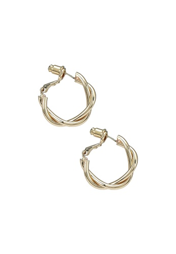 Red's Revenge gold 14K Gold Plated Claudia Intertwined Hoop Earrings 6BEDBAC8387D37GS_1
