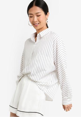 ZALORA BASICS multi Basic Oversized Boxy Collar Shirt 6CFD2AA623E0A1GS_1