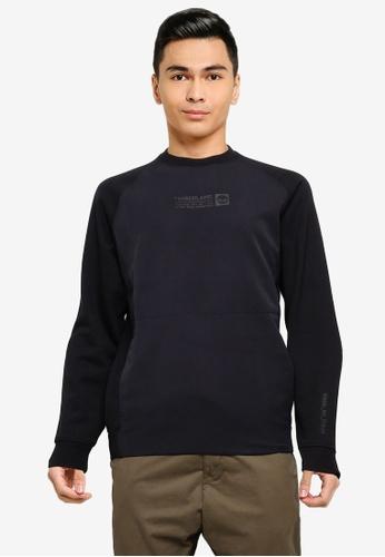 Timberland black Laid On Nylon Crew Sweatshirt 35C1EAA4FF7BD3GS_1