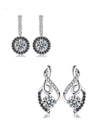 A-Excellence white Premium Elegant White Silver Earring Set B374EAC1D103AEGS_1