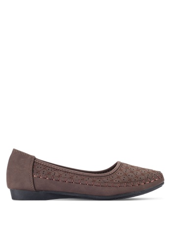 Louis Cuppers 褐色 Perforated Flats LO977SH97REKMY_1