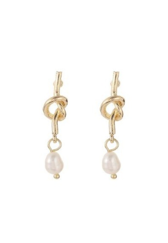 Atrireal beige and gold ATRIREAL -  Patricia Pearl Knot Earring CC259AC9FBF9FDGS_1