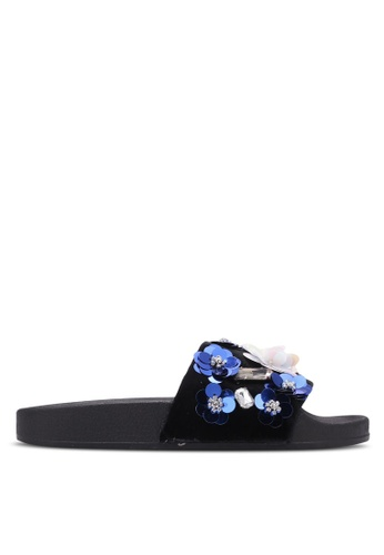 Nose black Flower Stone Slip-On Foot Bed NO327SH0S6V3MY_1