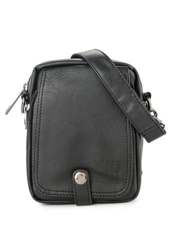 Urban State black Distressed Leather Edc Waist Pack 46B48AC3998BB0GS_1