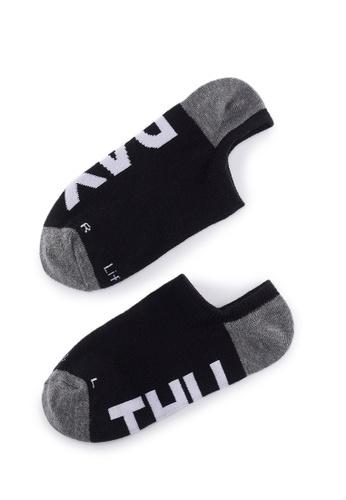 Life8 black Casual DeodorizationRight Angle Design Low Cut Week Socks -05368-Black 4F94AAA9599D49GS_1