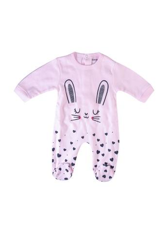 Babybol pink Long Sleeve Romper BC062KABFDECB9GS_1