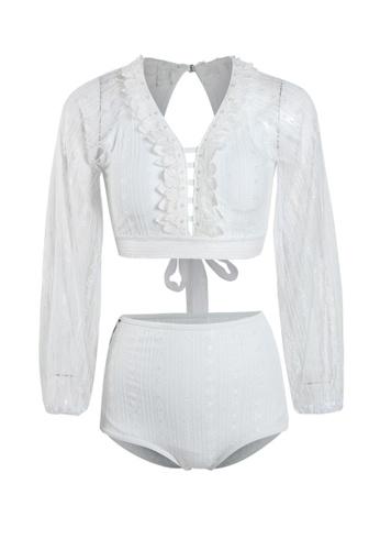 Its Me white (2PCS) Sexy Lace Bikini Swimsuit 822C8US7575054GS_1