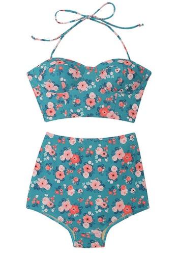 Halo multi Printed Swimsuit Bikini 76AA0USF607AC9GS_1